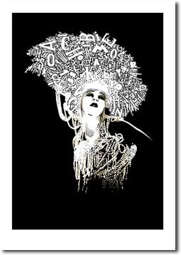 »Lady mit Buchstaben in Gold«