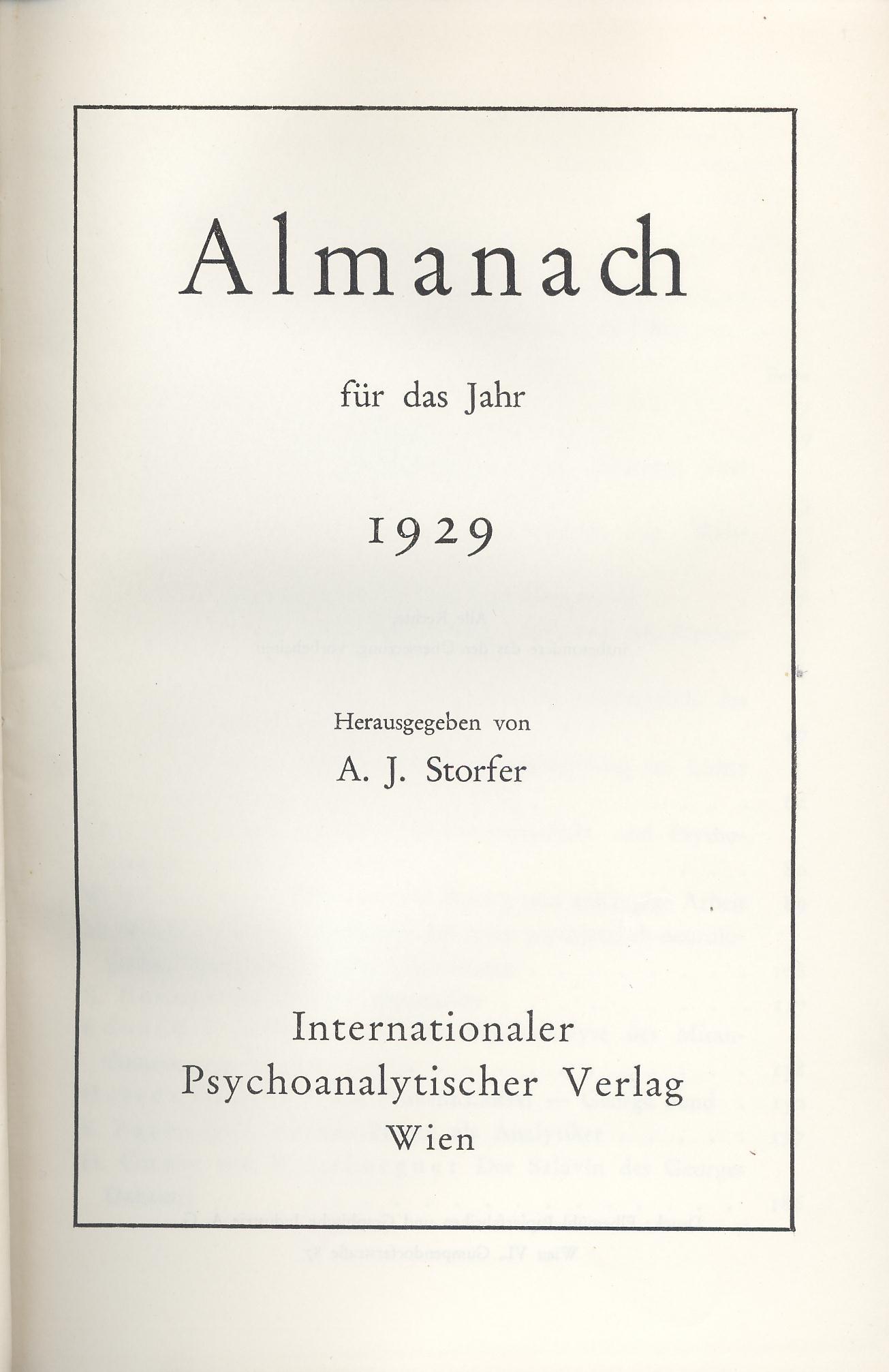 Almanach der Psychoanalyse, 1926–1938 (Reprint)