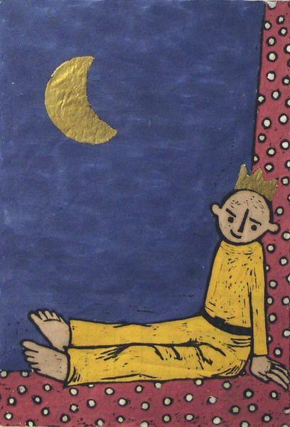 »Kleiner Prinz mit Mond«