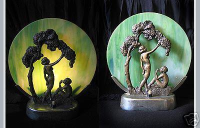 Figürliche Boudoir-Leuchte (Art déco)