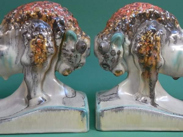 Buchstützenpaar »Kampfbereite Bisons«