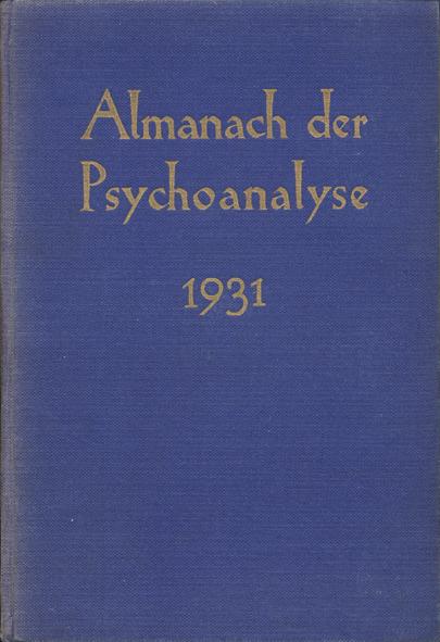 Almanach der Psychoanalyse 1931