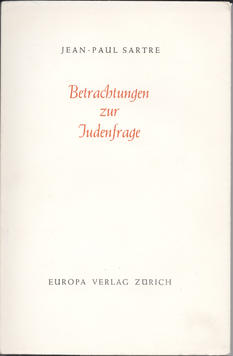 Betrachtungen zur Judenfrage (OT: «Réflections sur la question juive», 1946)