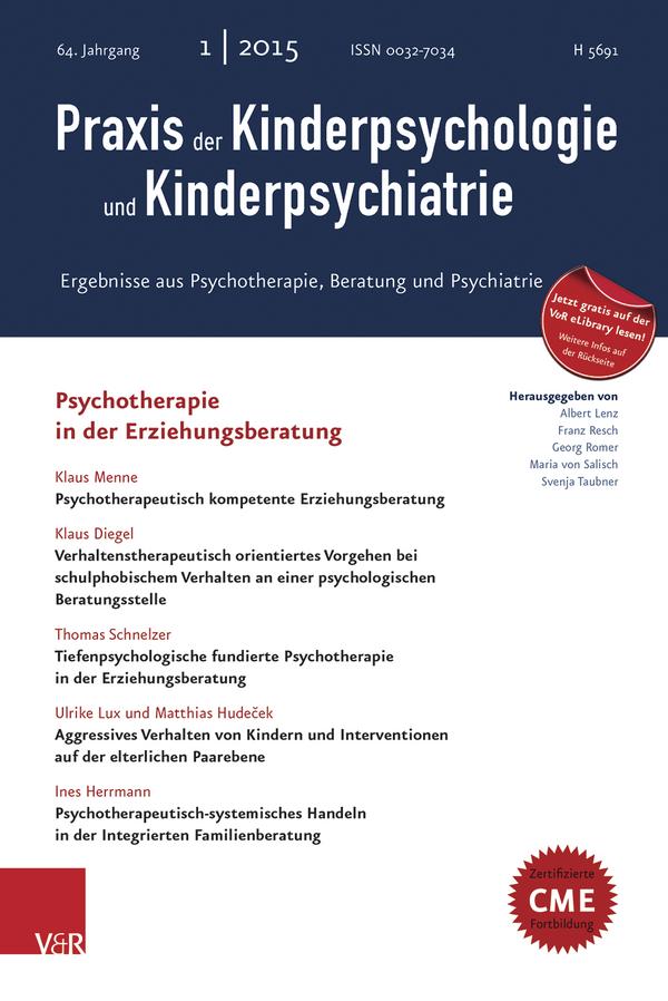 Praxis der Kinderpsychologie und Kinderpsychiatrie