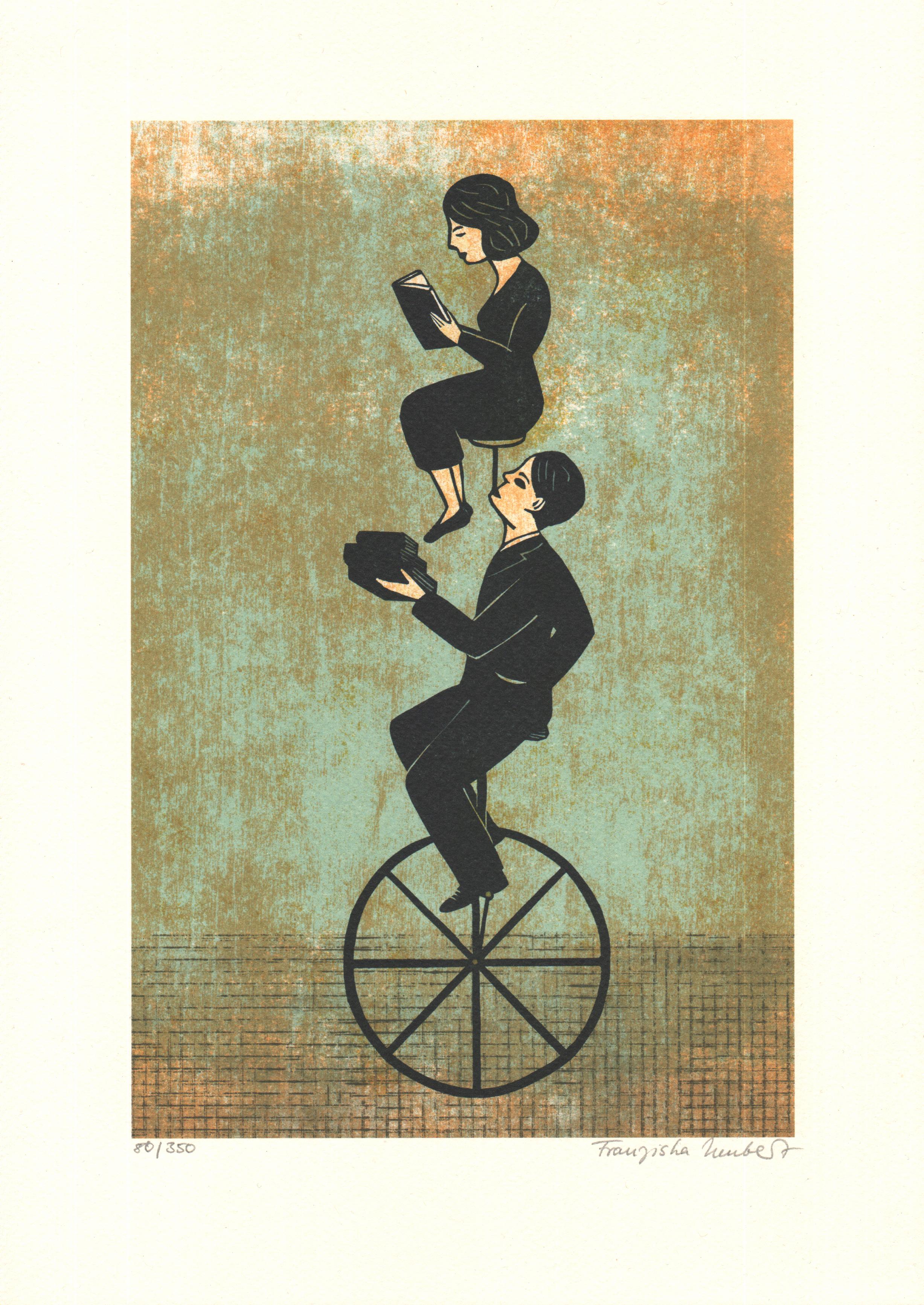 Auf dem Hochrad