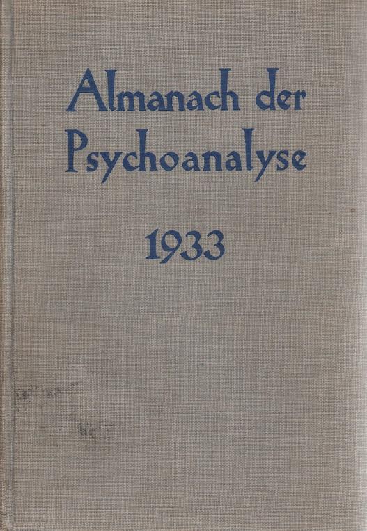 Almanach der Psychoanalyse 1933