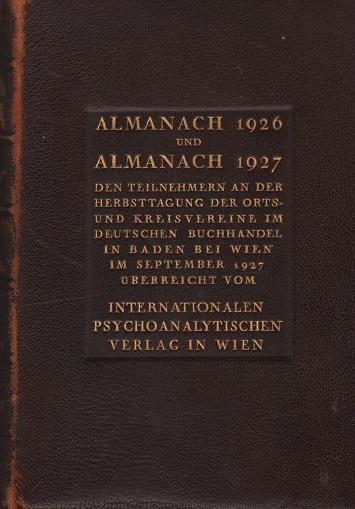 Almanach [der Psychoanalyse] für das Jahr 1926 und 1927