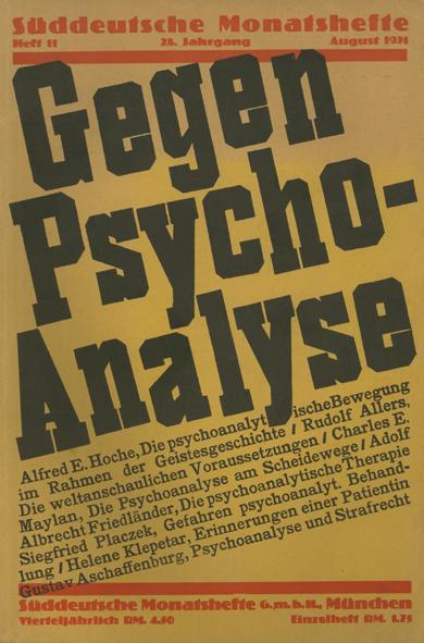 Gegen Psycho-Analyse