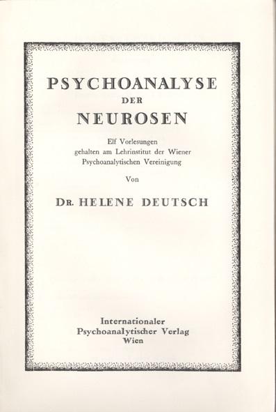 Psychoanalyse der Neurosen