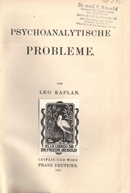 Psychoanalytische Probleme