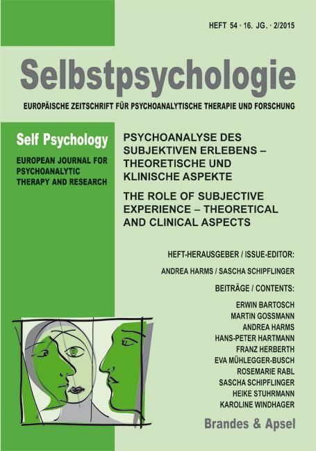 Selbstpsychologie – Europäische Zeitschrift für psychoanalytische Therapie und Forschung