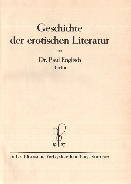 Geschichte der erotischen Literatur