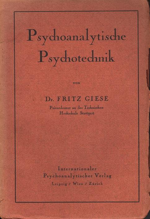 Psychoanalytische Psychotechnik