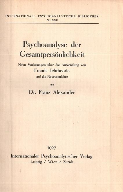 Psychoanalyse der Gesamtpersönlichkeit