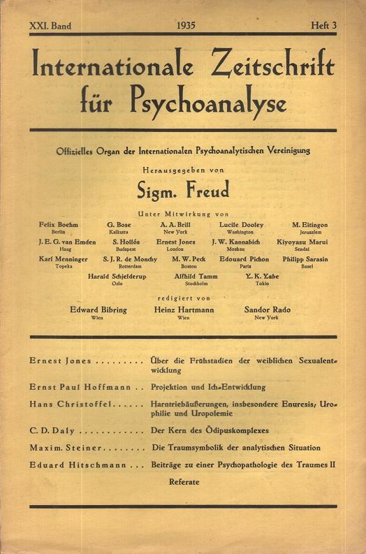 Internationale Zeitschrift für Psychoanalyse, 1935, Heft 3