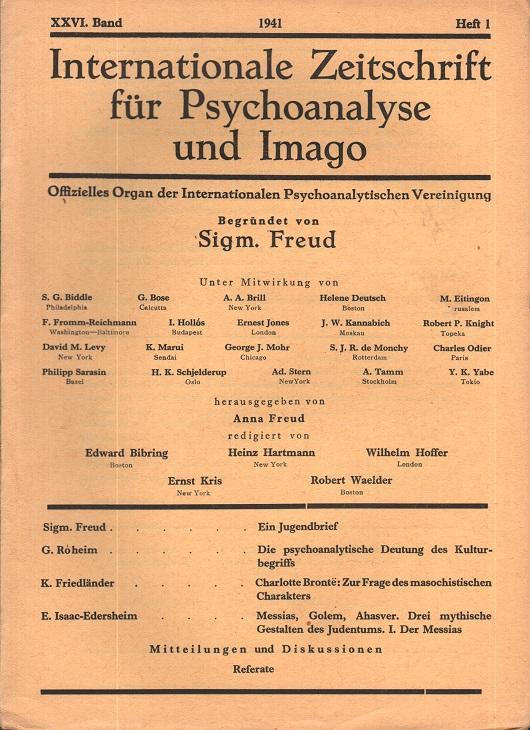 Internationale Zeitschrift für Psychoanalyse und Imago, 1941, Heft 1