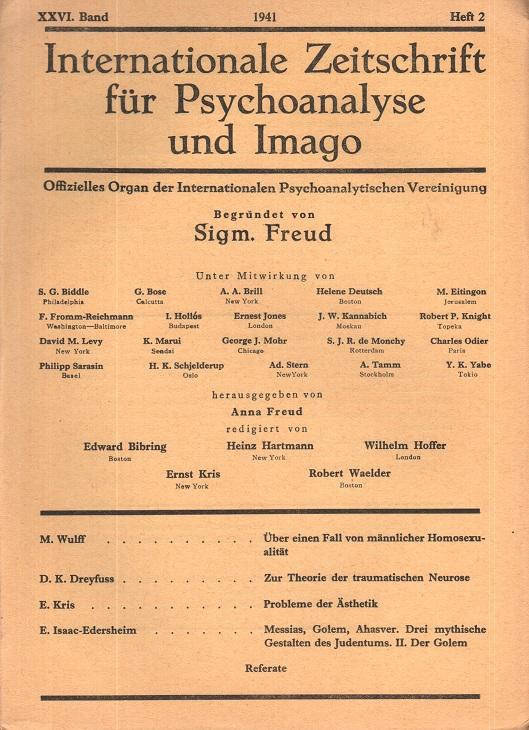 Internationale Zeitschrift für Psychoanalyse und Imago, 1941, Heft 2
