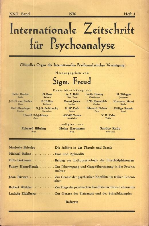Internationale Zeitschrift für Psychoanalyse, 1936, Heft 4