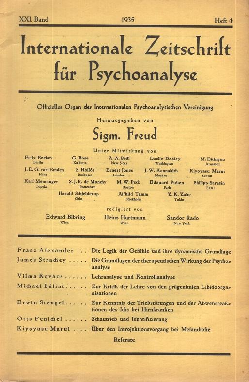 Internationale Zeitschrift für Psychoanalyse, 1935, Heft 4