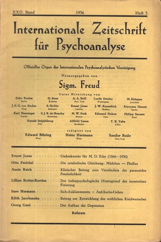 Internationale Zeitschrift für Psychoanalyse, 1936, Heft 3
