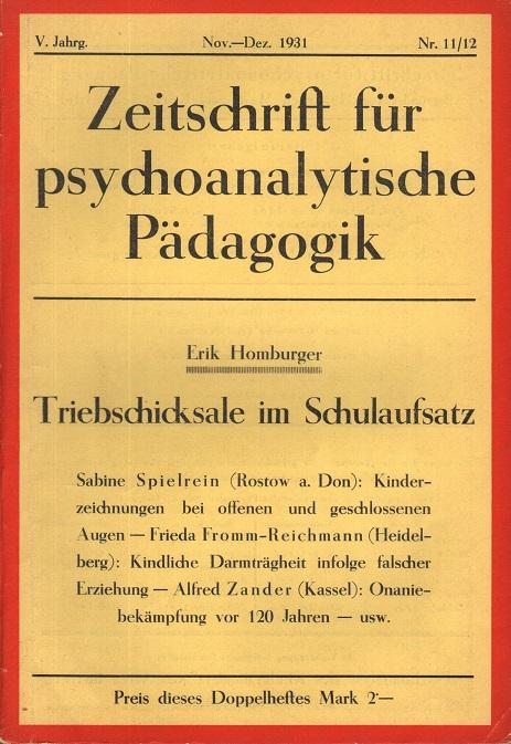Zeitschrift für psychoanalytische Pädagogik