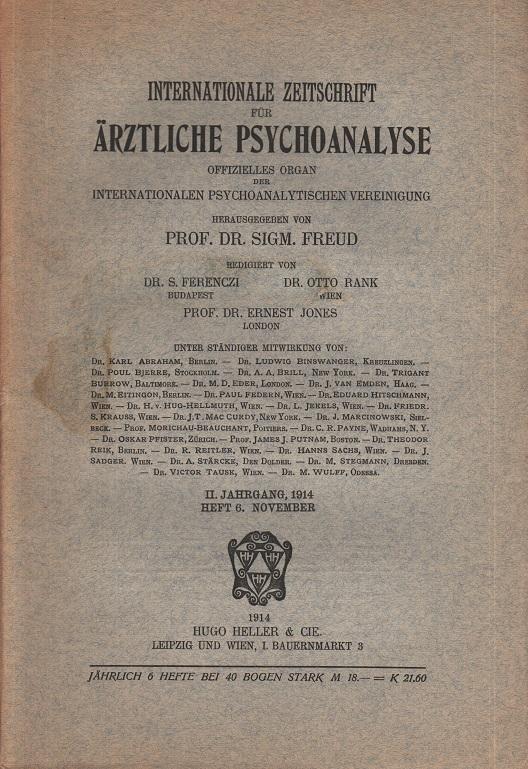Internationale Zeitschrift für Ärztliche Psychoanalyse II. Jahrgang Heft 6