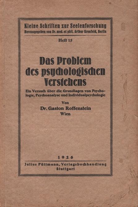 Das Problem des psychologischen Verstehens