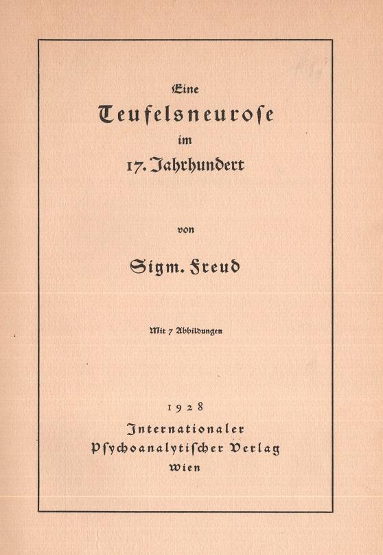 Eine Teufelsneurose im 17. Jahrhundert
