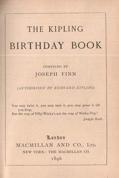 The Kipling Birthday Book