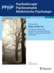 PPmP - Psychotherapie • Psychosomatik • Medizinische Psychologie
