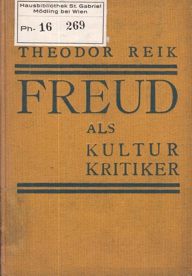 Freud als Kulturkritiker