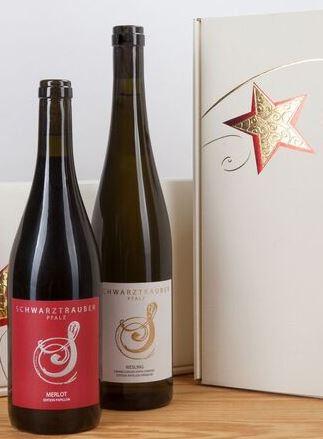 * Schwarztrauber Wein-Präsent im 2er Geschenkkarton