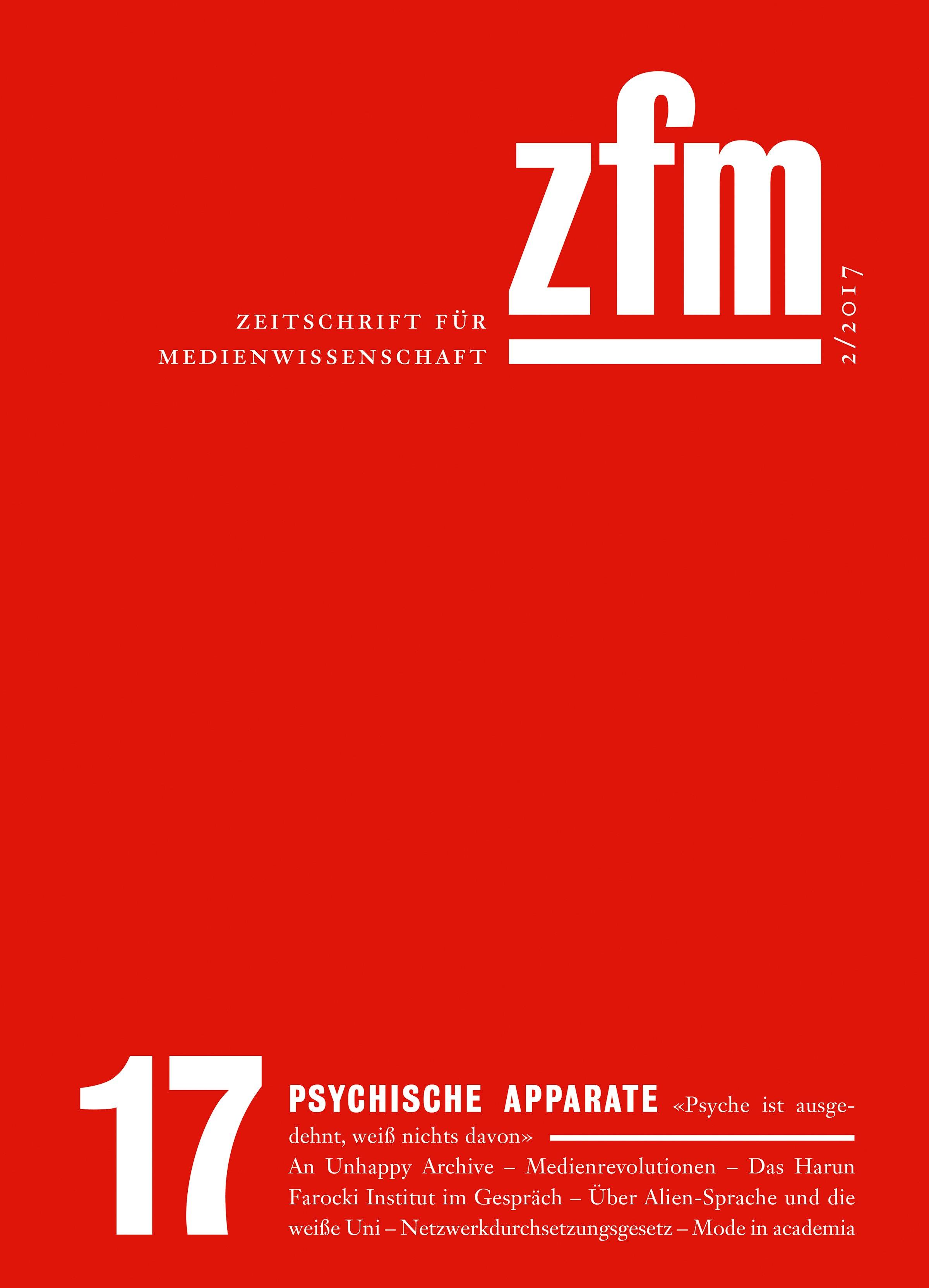 Zeitschrift für Medienwissenschaft 17
