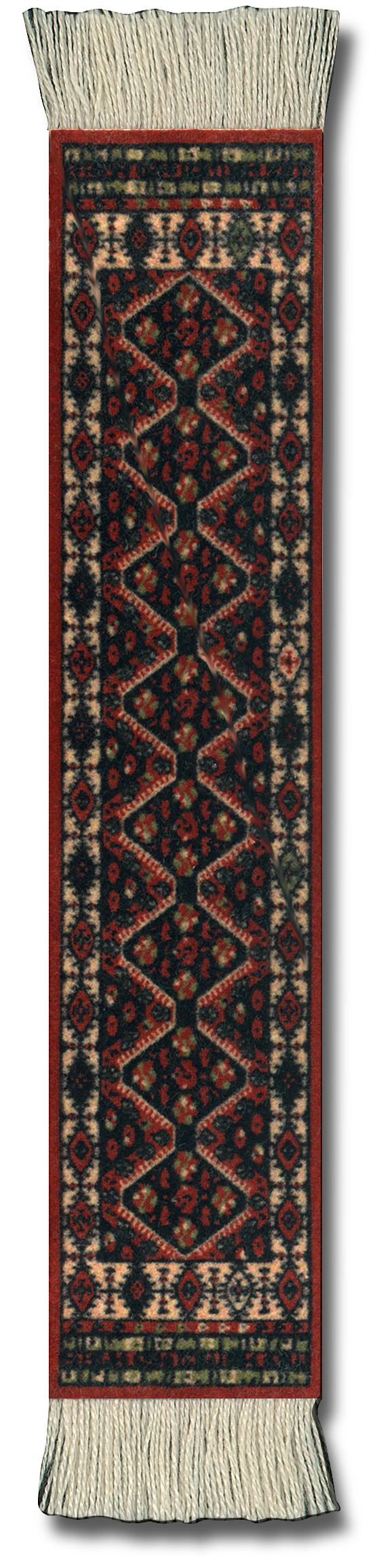 Lesezeichen nach klassischen Teppichdesigns (book rug)