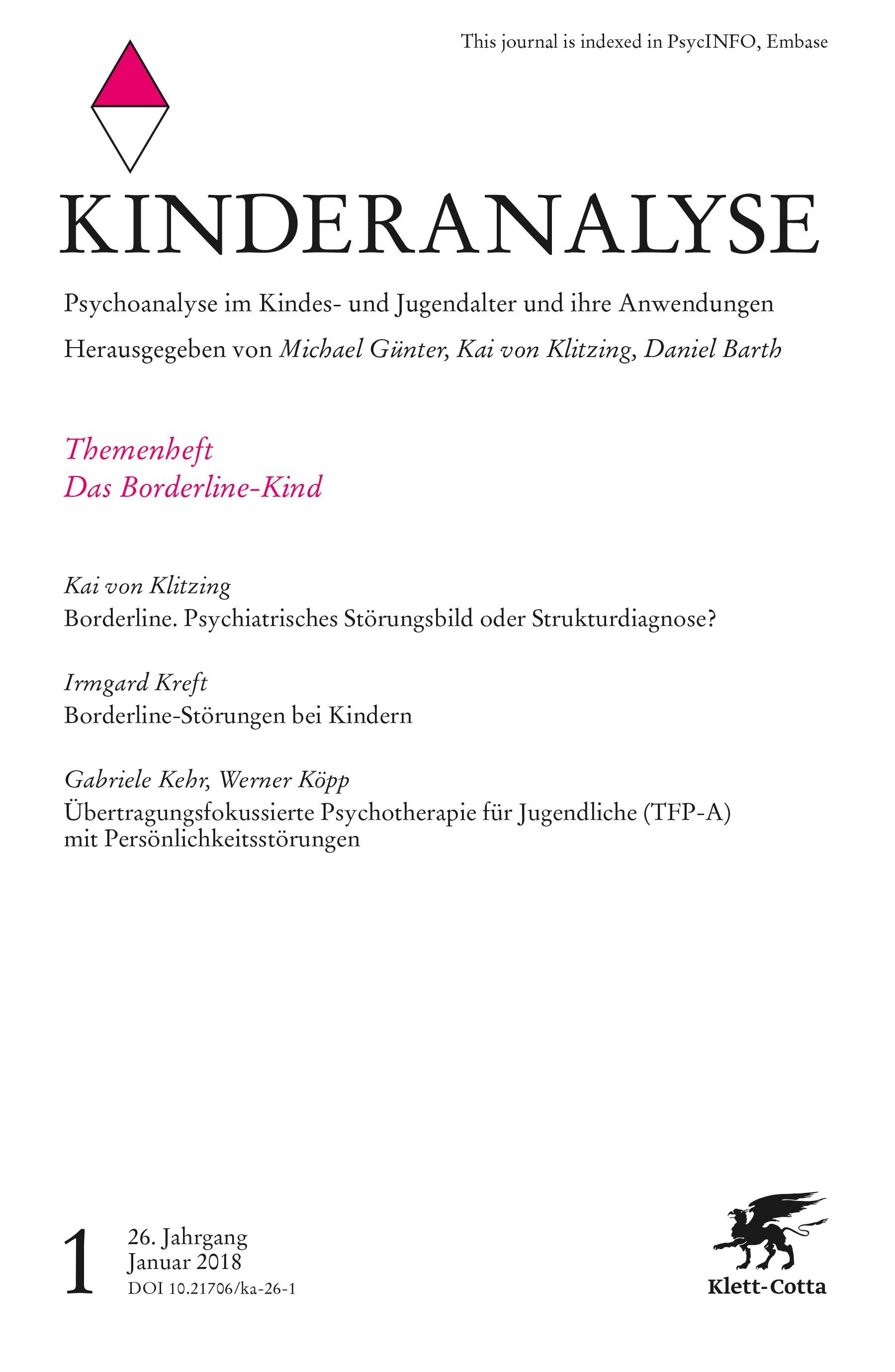 KINDERANALYSE - Zeitschrift für Psychoanalyse im Kindes- und Jugendalter