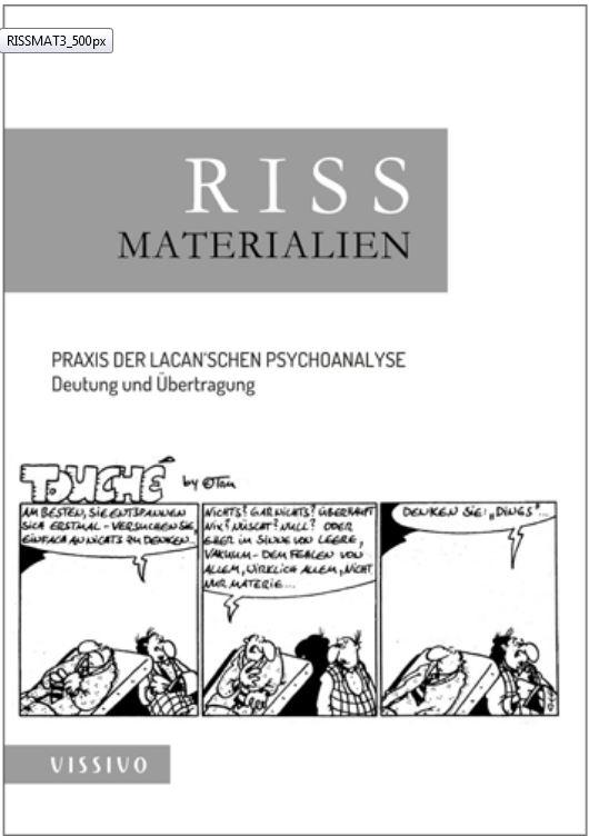 RISS Materialien 3: Sonderausgabe RISS. Zeitschrift für Psychoanalyse