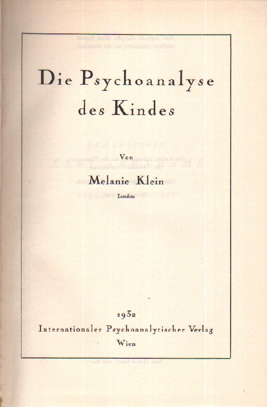 Die Psychoanalyse des Kindes