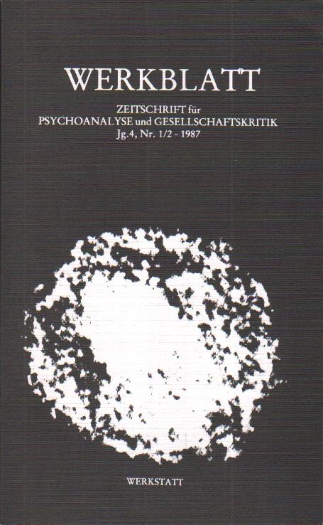 WERKBLATT - Psychoanalyse und Gesellschaftskritik