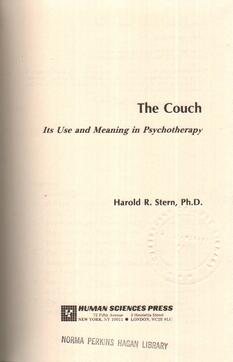 The Couch, Its Use and Meaning in Psychotherapy