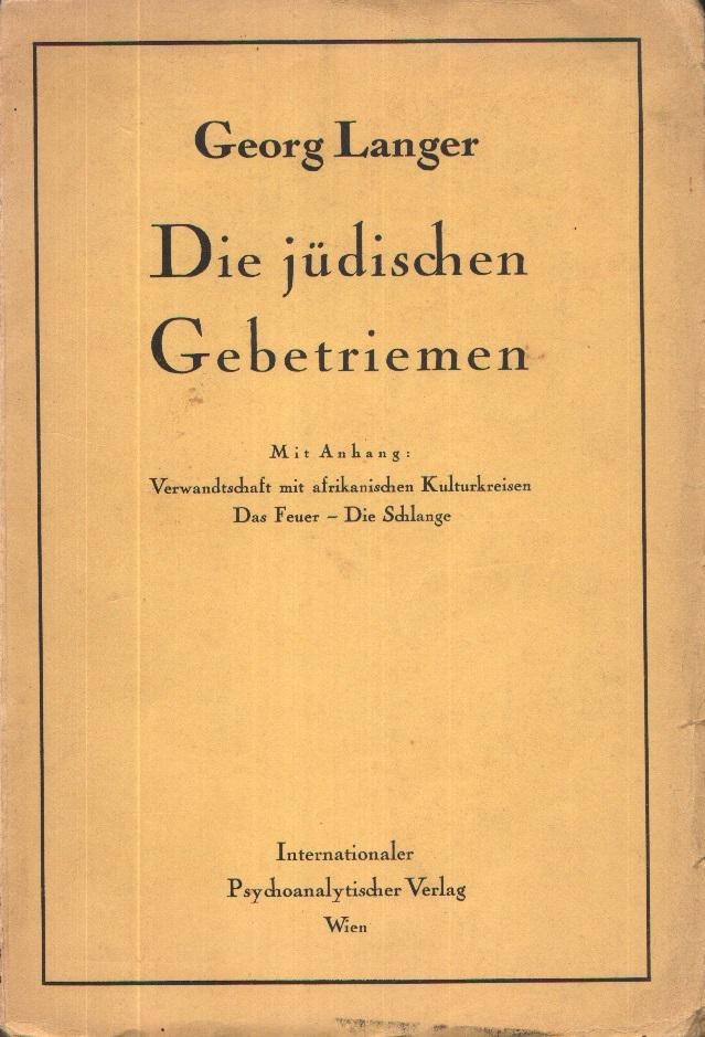 Die jüdischen Gebetriemen (Phylakterien)