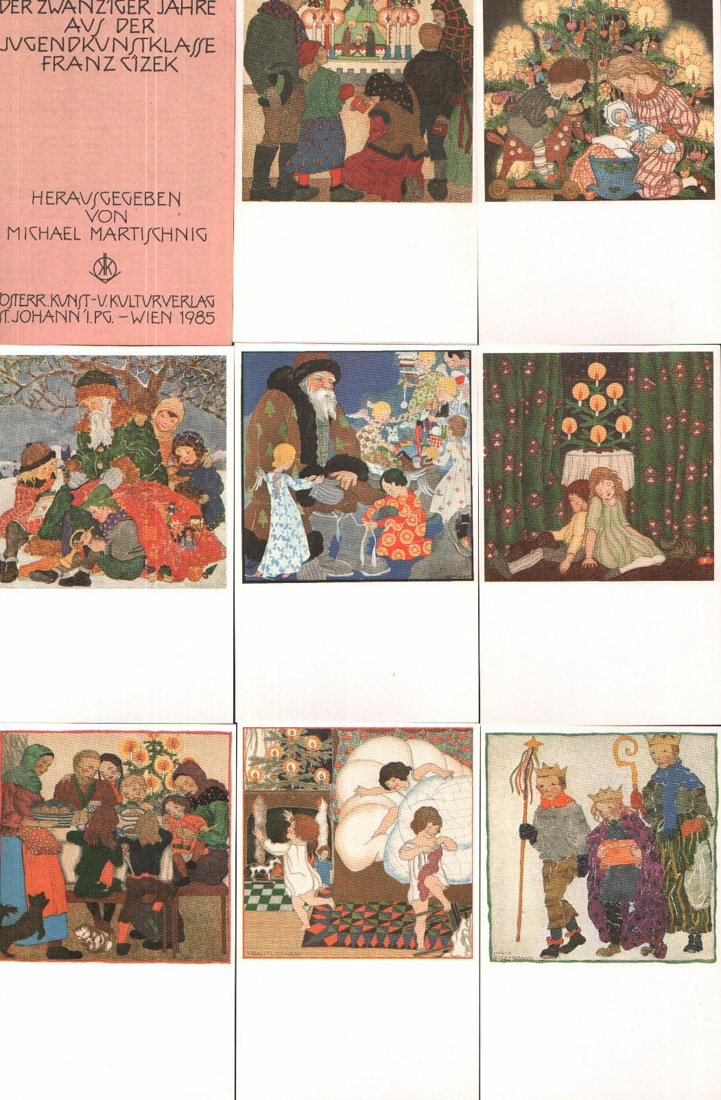 Wunschkarten der zwanziger Jahre aus der Jugendkunstklasse Franz Cizek