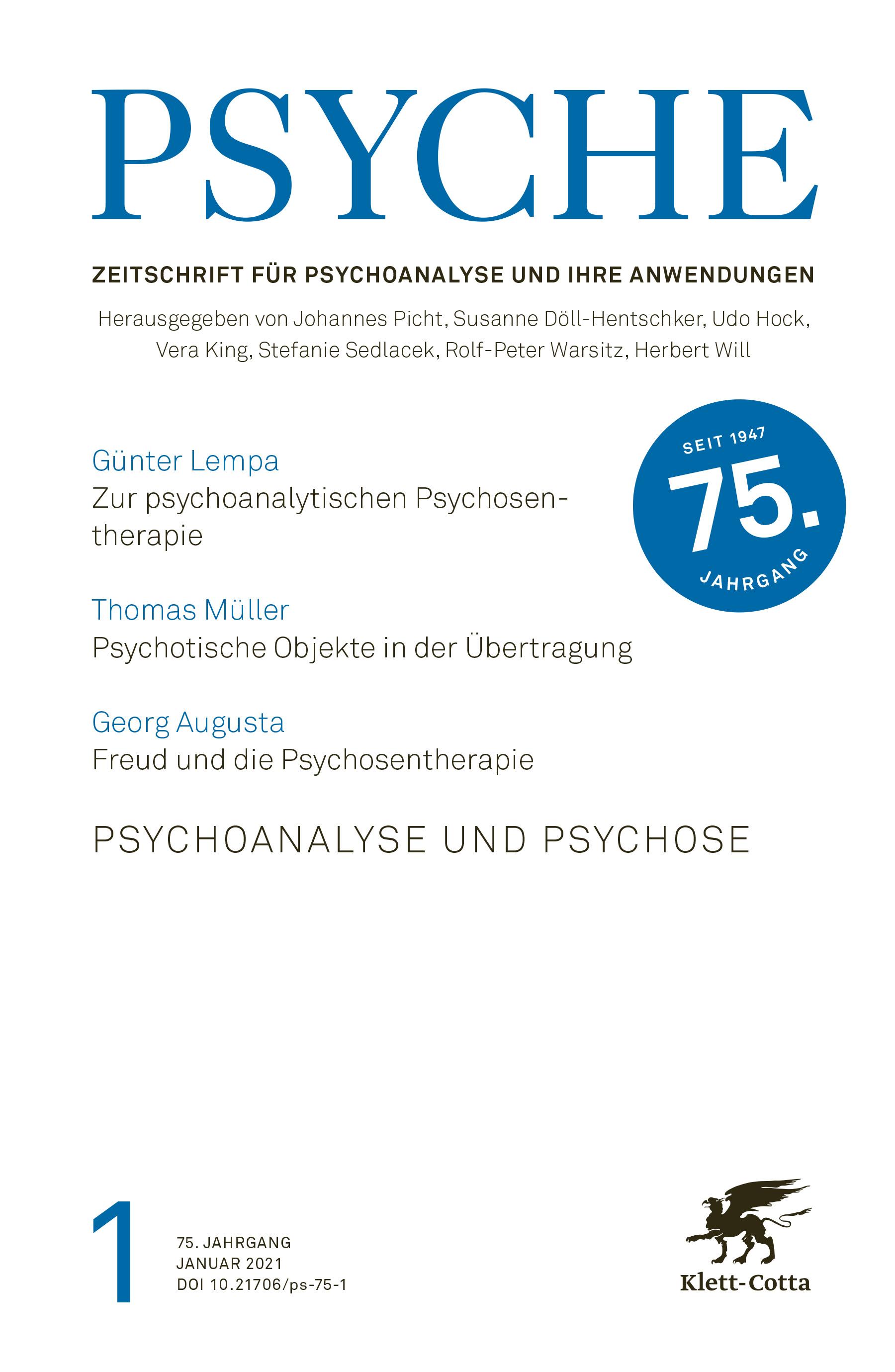 PSYCHE - Psychoanalytische Behandlung von Psychosen