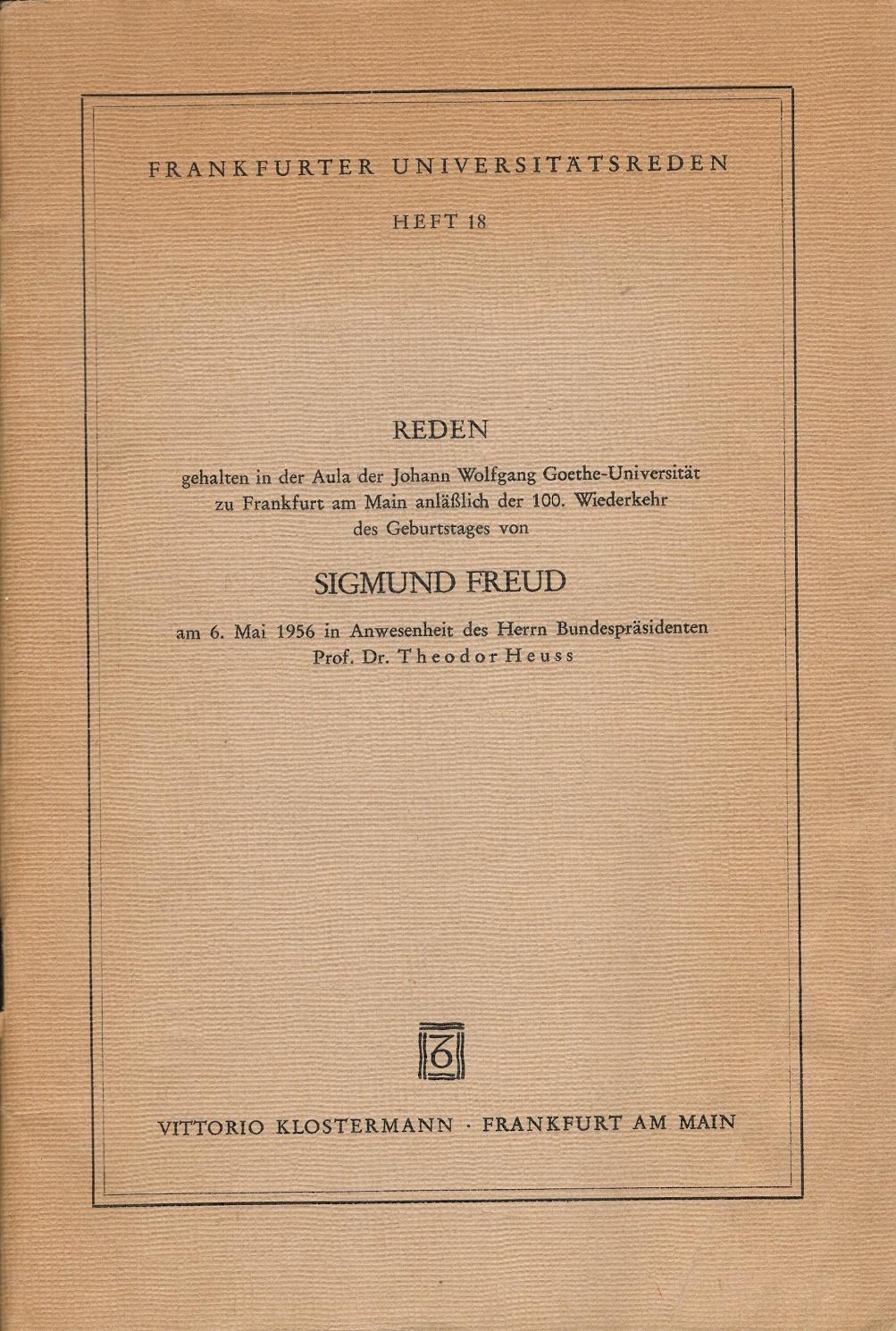 Frankfurter Universitätsreden, Heft 18