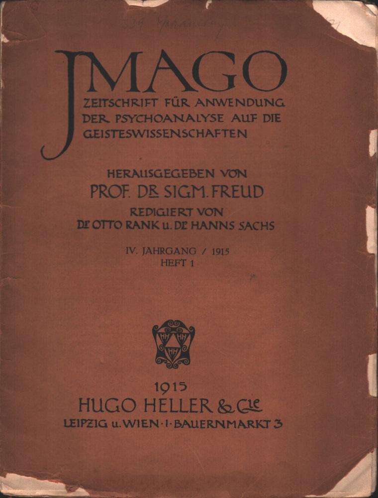 Imago - Zeitschrift für Anwendung der Psychoanalyse auf die Geisteswissenschaften