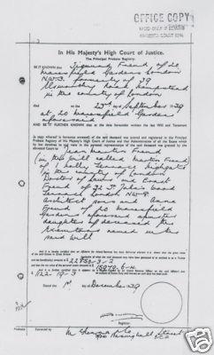 Testament vom 28. Juli 1938, handgeschrieben