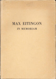 Max Eitingon in memoriam