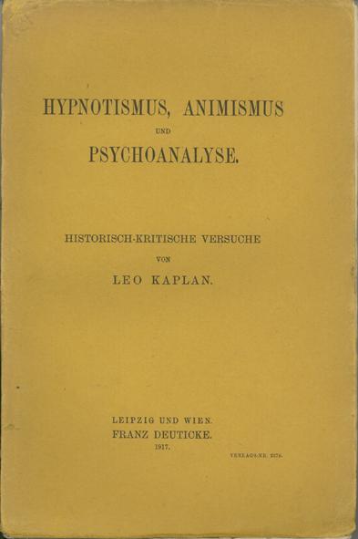 Hypnotismus, Animismus und Psychoanalyse
