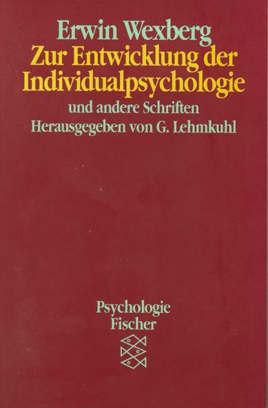 Zur Entwicklung der Individualpsychologie