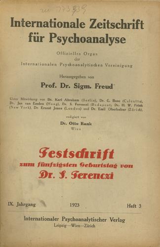 Internationale Zeitschrift für Psychoanalyse, 1923, Heft 3