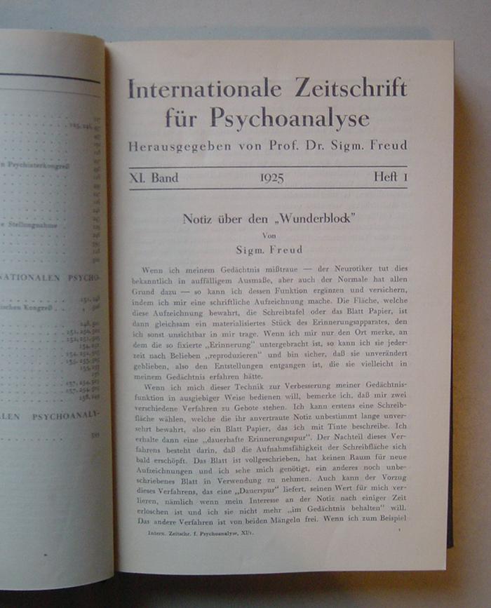 Internationale Zeitschrift für Psychoanalyse, XI. Band (1925)